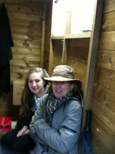 Five minutes sheltering from the rain - in the shed!