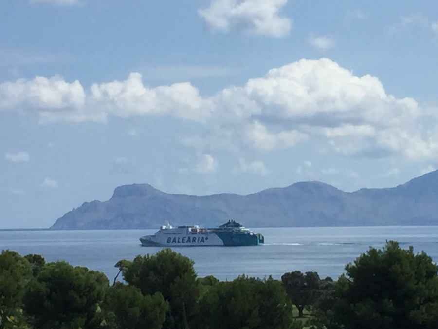 Balearia Ferry leaving Alcudia